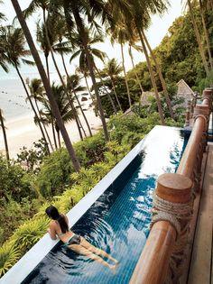 Pool at Four Seasons, Koh Samui, #Thailand #travel #travelapps #worldsbestpool #pool #Jetpac
