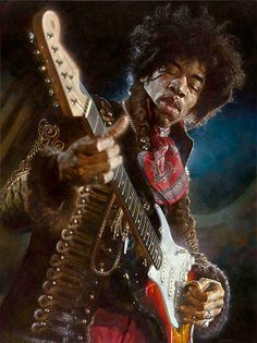 Limited edition print of Jimi Hendrix by Sebastian Kruger. Asking price $7500.