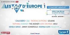 Assistez au concert des 60 ans d'Europe 1 à Paris le 21 mai