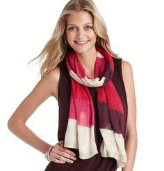 Loft - LOFT Sale Accessories - Lurex Colorblock Stripe Scarf... cute scarf