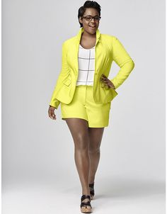 8fa6b184ebdee Suits and Blazers 63865  New Lane Bryant Plus Size Lime The Modernist Suit  Jacket Blazer