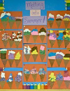 Torn Paper Ice Cream Cones