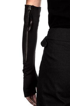 Masnada Damen Leder Handschuhe Avantgarde schwarz