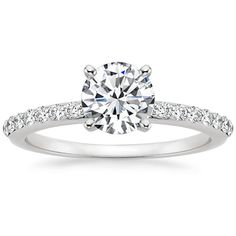 Platinum Petite Shared Prong Diamond Ring (1/4 ct.tw.) from Brilliant Earth
