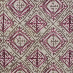 Havana in pink cotton fabric // Walter G #fabrics #pink