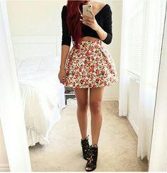 Camisa  faldas de flores