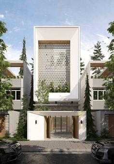 Modern home design – Home Decor Interior Designs Minimal House Design, Modern Villa Design, Modern Exterior House Designs, Urban Design, Townhouse Exterior, Modern Townhouse, Townhouse Designs, Facade Architecture, Residential Architecture