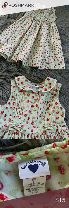 // HARTSTRINGS ● FLORAL DRESS CLEAN AND READY TO WEAR VERY GOOD CONDITION   HARTSTRINGS  SIZE 6  100% COTTON Hartstrings Dresses Casual
