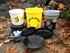 Our complete panning kit that comes included in your Gold Rush Nugget Bucket! All this stuff fits inside your bucket!