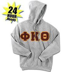 Phi Kappa Theta Lace up Pullover Hooded Sweatshirt