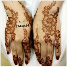 Image may contain: one or more people Pretty Henna Designs, Floral Henna Designs, Mehndi Designs For Girls, Modern Mehndi Designs, Dulhan Mehndi Designs, Mehndi Designs For Fingers, Latest Mehndi Designs, Henna Tattoo Designs, Legs Mehndi Design