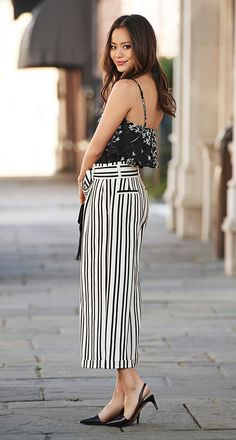 b2aeef081e13e Paper Bag Pants · Mix and match patterns for a bold stylish look. Our ultra  flattering stripped paper bag