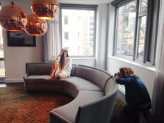 The Glamourai x Derek Lam mod-inspired photo shoot at Smyth Tribeca in NYC