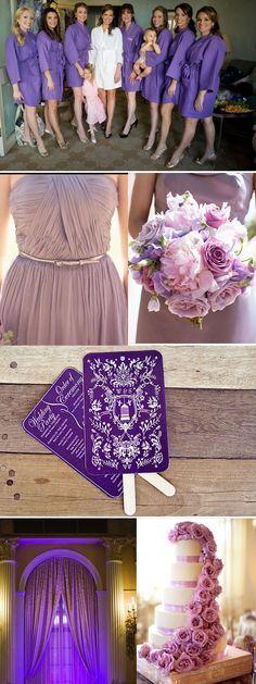 Tableau d'inspiration pour un mariage violet/parme