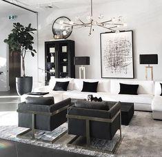 Black And White Living Room Decor, Living Room Decor Cozy, Elegant Living Room, New Living Room, Interior Design Living Room, Home And Living, Living Room Designs, Living Room Inspiration, Home Decor