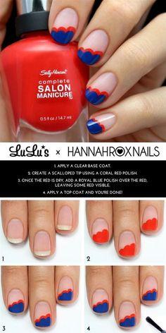 Nubes de colores para tus uñas - http://xn--decorandouas-jhb.com/nubes-de-colores-para-tus-unas/