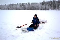 Ice-Fishing in the Finnish Lapland