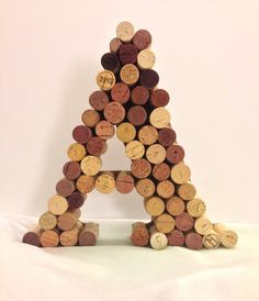 Wine cork monogram - A letter