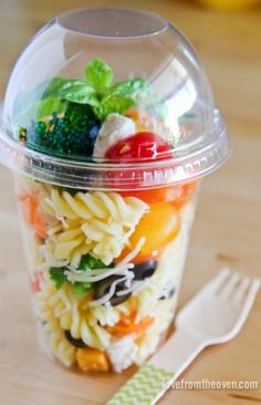 On-the-go Pasta Salad Containers are the perfect idea for picnic entertaining this summer.