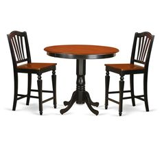 Solid Wood 3-piece Counter Height Pub Set