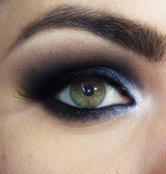 Tutorial – olho preto com brilho inspirado em Patrícia Poeta