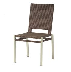 "Woodard Outdoor - All Weather Pacific Dining Side Chair #S602511 Quick Overview: Available in Coffee or Mocha weave only. material: Woven HDPE Height: 36"" Width: 20"" Depth: 24"