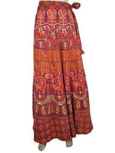 Women Long Wrap Skirt Indie Purple Orange Red Animal Paisley Floarl Print Gypsy Cotton Wrap Around Skirts Mogul Interior, http://www.amazon.com/dp/B009SIHHJ2/ref=cm_sw_r_pi_dp_EodHqb0FMZVE7
