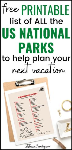 Download your free printable list of US National Parks as you plan your bucket list US road trips for next summer. Take the great America road trip and use this checklist to help you plan. List Of National Parks, Great America, Us Road Trip, Free Printables, This Is Us, How To Plan, Bucket, Summer, Rv Camping