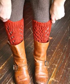 KNITTING PATTERN - Lacefield Knit Legwarmers - Boot Toppers - Chunky Lace - Spring 2012. $5.00, via Etsy.