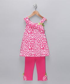 Take a look at this Hot Pink Leopard Swing Top & Capri Pants - Toddler & Girls  by Kids Headquarters on #zulily today!
