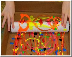 paper towel roll painting