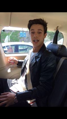 March 29,2015; CAMERON Dallas on the way for appearance in the #iHeartAwards 2015 #camerondallas