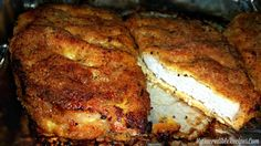 Delicious baked parmesan pork chops with crust! Baked Parmesan Pork Chops, Breaded Pork Chops, Baked Pork, Parmesan Crusted, Pork Ham, Pork Loin, Parmesean Crusted Pork Chops, Crusted Chicken, Recipes