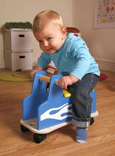 This is another amazingly cool riding toy for toddlers. It's an alternative to the balance bike for sure and it's more of an indoor toy as opposed to an outdoor toy. I like it nevertheless. Called the Zoomster Racer I'm not sure I can get it in the US but hey, it's cool. Check it out!