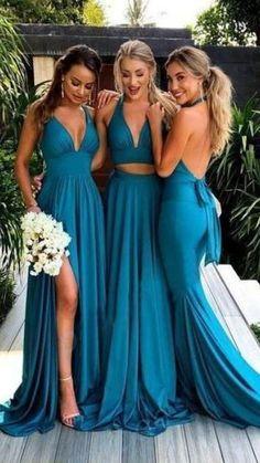 Backless Bridesmaid Dress, Turquoise Bridesmaid Dresses, Bridesmaid Dresses Under 100, Mismatched Bridesmaid Dresses, Blue Bridesmaids, Wedding Bridesmaids, Prom Dresses, Bridesmaid Gowns, Cheap Dresses