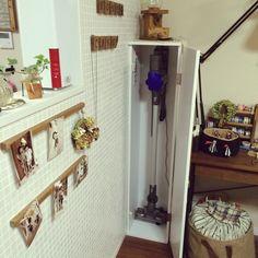 Azuさんの、ダイソン掃除機,DIY,関西好きやねん会,収納,リビング,のお部屋写真