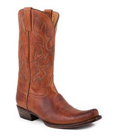 Take a look at this Burnished Honey Snip-Toe Cowboy Boot - Men by Stetson on #zulily today!