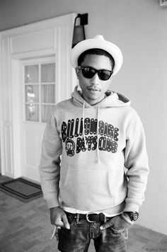 .pharrell williams <3 the boy doesn't age....