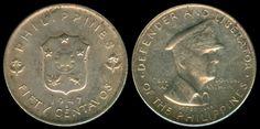 Coin: 50 Centavos 1947 Gen. Douglas Macarthur Philippine Coin - #2