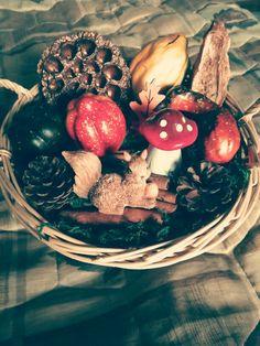Őszi asztali dìsz ... Mókus az erdőben :-)