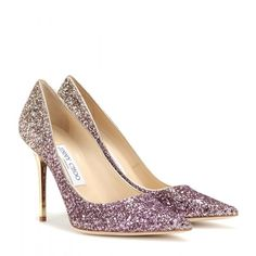 Jimmy Choo Agnes Ombré Glitter Pumps ($530) ❤ liked on Polyvore featuring shoes, pumps, heels, purple, jimmy choo pumps, purple shoes, jimmy choo, heels & pumps and jimmy choo shoes