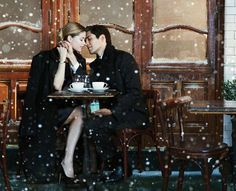 snowy engagement photo ideas