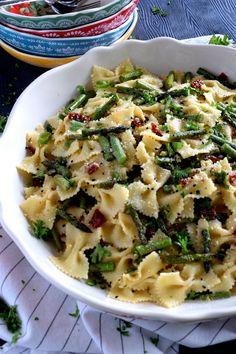 Roasted Asparagus Lemon Butter Pasta Salad - Lord Byron's Kitchen