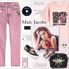 Mtv  - Marc jacobs by alves-nogueira on Polyvore featuring moda, Marc Jacobs, Kenzo, Design Lab, marcjacobs, MTV, fashionset and polyvoreeditorial