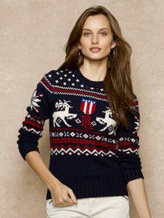 Intarsia-Knit Reindeer Sweater - Crewnecks & Tanks  Sweaters - RalphLauren.com