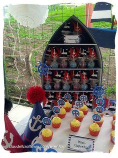 ¡Ahoy marineros!!!   Esta celebración fué en honor a unos bellos gemelos que sus padres llevaron a navegar con sus hermosos trajes de mar... Nautical Birthday Cakes, Nautical Party, Leo Birthday, 1st Birthday Parties, Baby Shower Themes, Baby Boy Shower, Sailor Party, Baby Shawer, First Birthdays