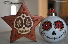 Dia De Los Muertos /Day of the Dead~Sugar skull ornaments, Día de los Muertos