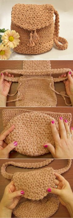 Learn to Crochet the Jasmine Stitch Bag or Backpack Tutorial