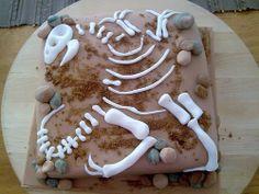 Fossil dinosaur bones cake