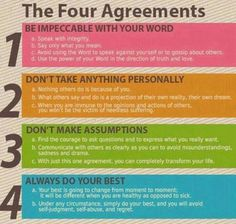 The 4 Agreements.  How very simple.